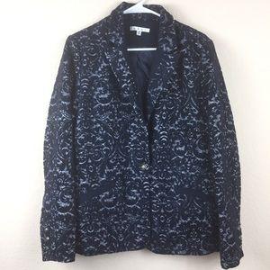 CABI Women burnout 109 blazer jacket size 12